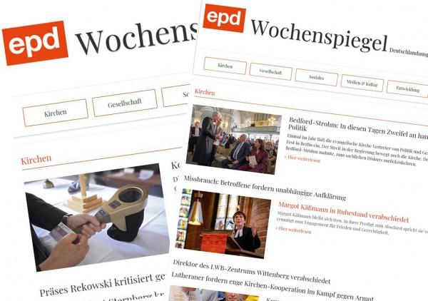 epd Wochenspiegel Deutschlandausgabe